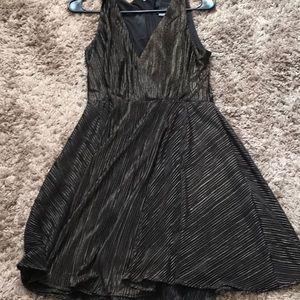 Kardashian Kollection boho dress black and gold